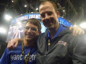 Bill and Ethan at Final Four, 2012