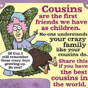 cousins are