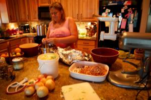 Elaine making burgoo