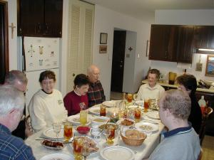 Thanksgiving dinner 2002